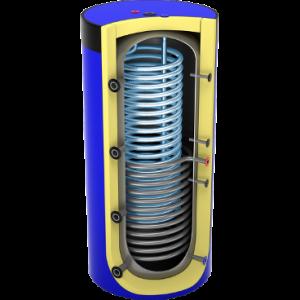 Akumulacinė sanitarinė talpa su šilumokaičiu
