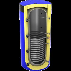 Akumuliacinė talpa su vienu šilumokaičiu