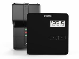 juodos spalvos termostatas