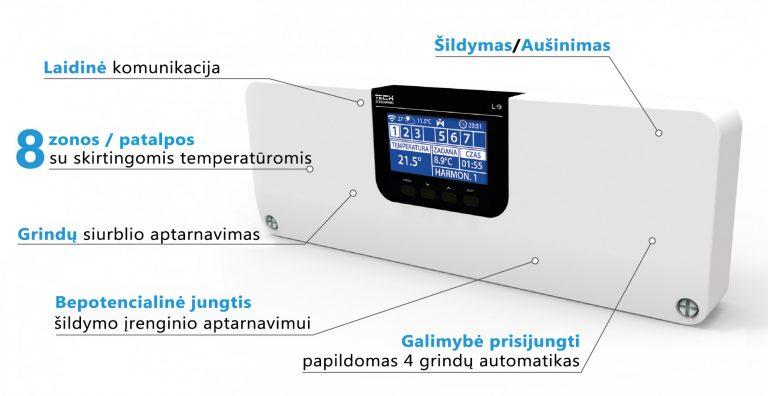 Grindinio šildymo valdymo konsolė L-9